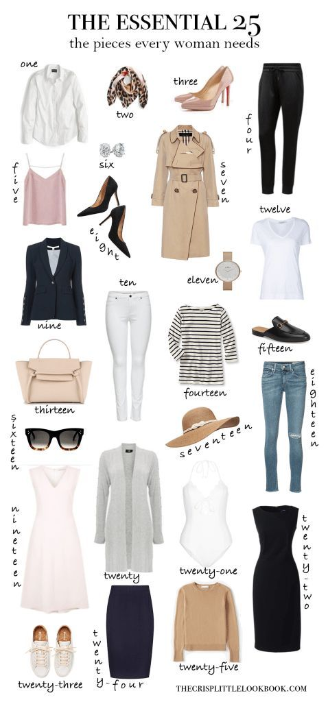 The 25 wardrobe essentials that every woman needs … thecrisplittleloo … #b …   – Capsule warderobe