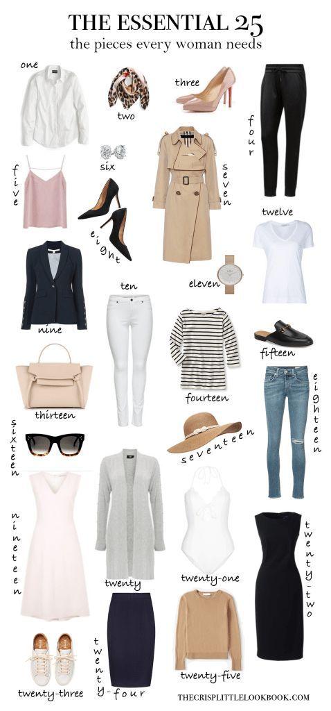 Die 25 Garderoben-Essentials, die jede Frau braucht … thecrisplittleloo