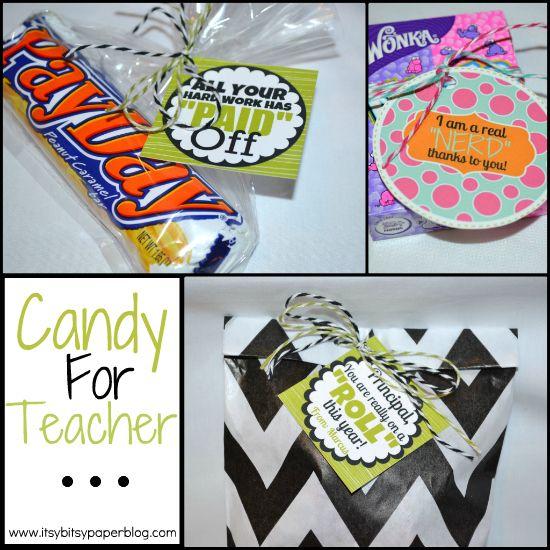 Great ideas for #Teacher appreciation candy tags!!: Teachers Gift, Teacher Appreciation, Candies Parties, Candies Tags, Gift Ideas, Candies Gift, Parties Stuff, Appreciation Gift, Teachers Appreciation Candies