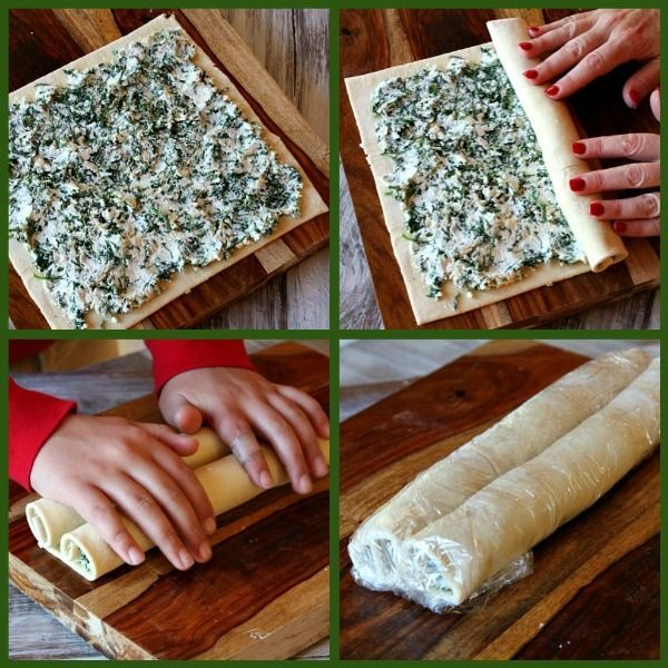 Spinach Palmiers with a Make Ahead Tip