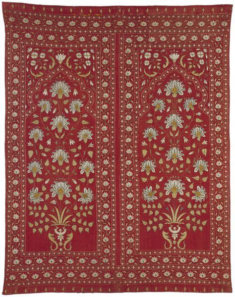 Quilted cotton tent hanging, India, early 18th century l Victoria and Albert Museum #quilting #embroidery