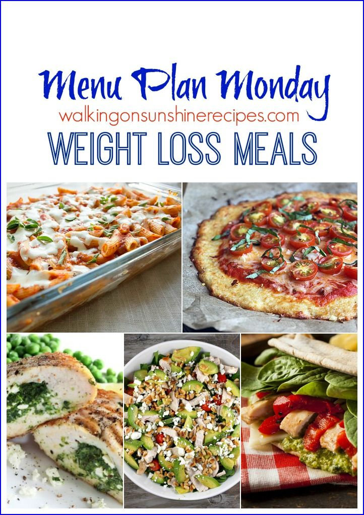Menu Plan Monday - Weight Loss Meals and Goals for 2016.  This week's Menu Plan Monday is all about recipes that are low in calories to help us all reach our weight loss goals for 2016.