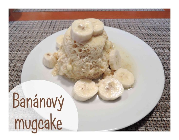 Banánový mugcake - bez mouky! Zdravá snídaně, zdravé mlsání