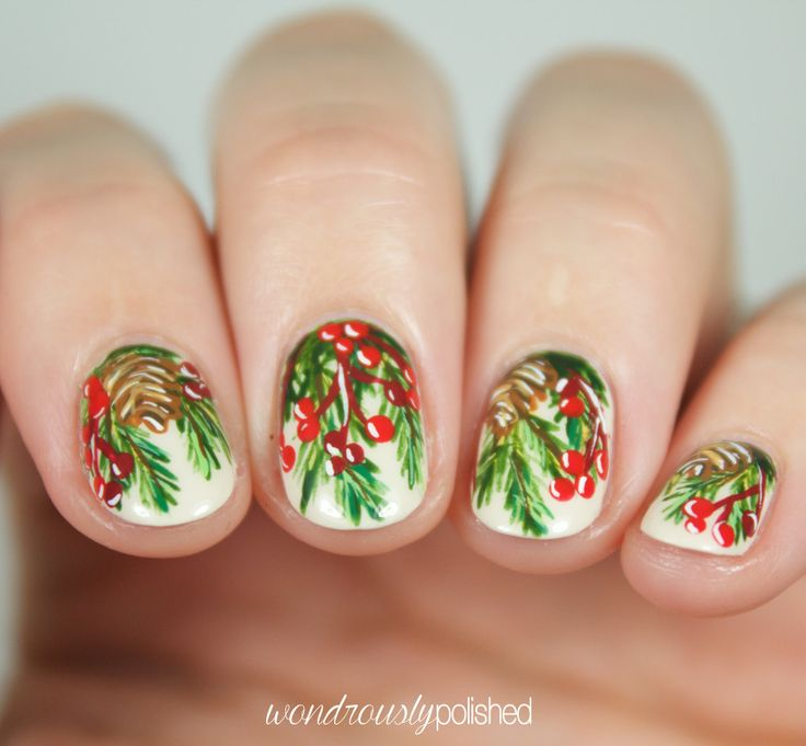 The Beauty Buffs - Holiday Theme: Deck the Halls Nail Art