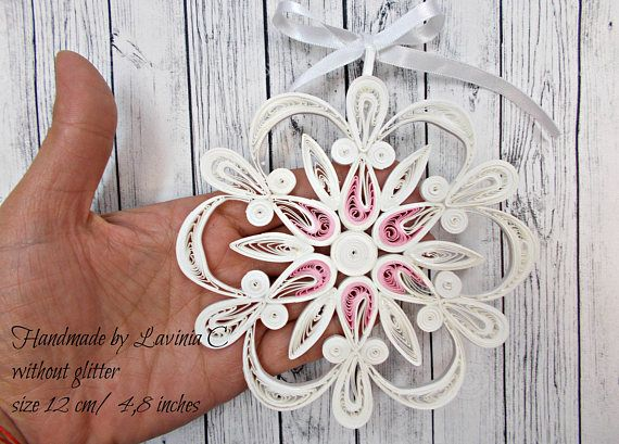 Romantic Quilled Christmas tree ornaments romantic quilled