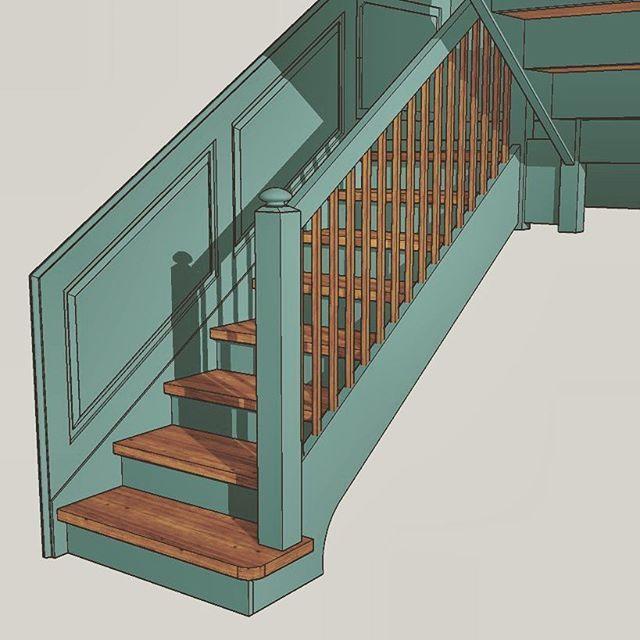 Schody z drewninymi panelami ściennymi. Wall moulfing panels at staircase. #schodydrewniane #schodyangielskie #sztukateria #wallmoulding #brystpanel #sztukateriascienna