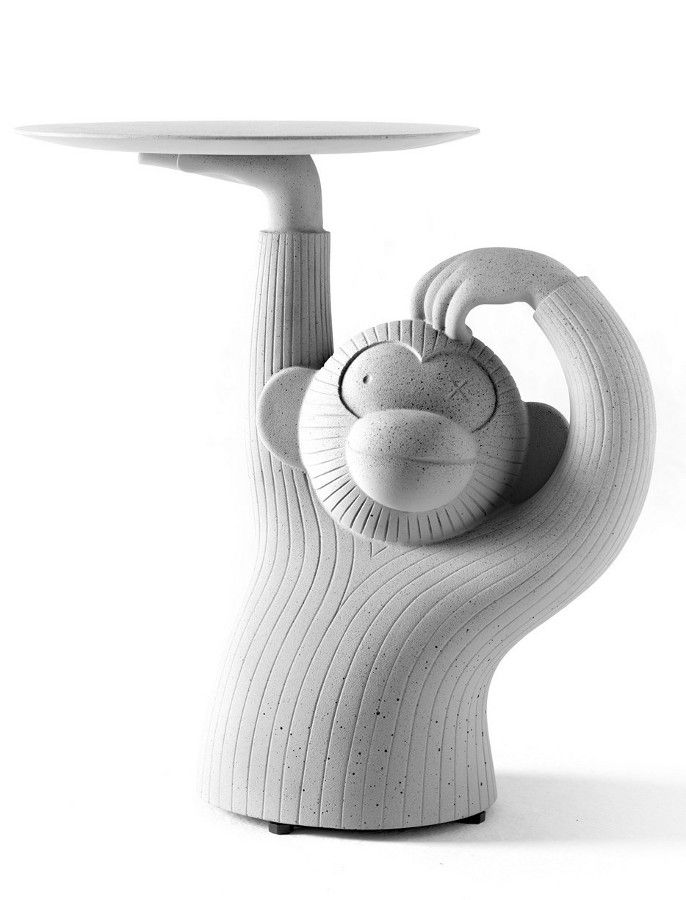 An useful sculpture: #Monkey by Jaime Hayon for BD Barcelona - A #concrete side #table with a cartoon look @bdbarcelona