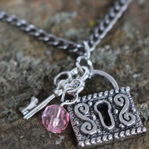 Everyone loves charm jewelry, but this $3 Charm Necklace is even better since it cost so little to make. This necklace is especially cute around Valentine's Day, but can be worn throughout the year as a cute charm necklace.