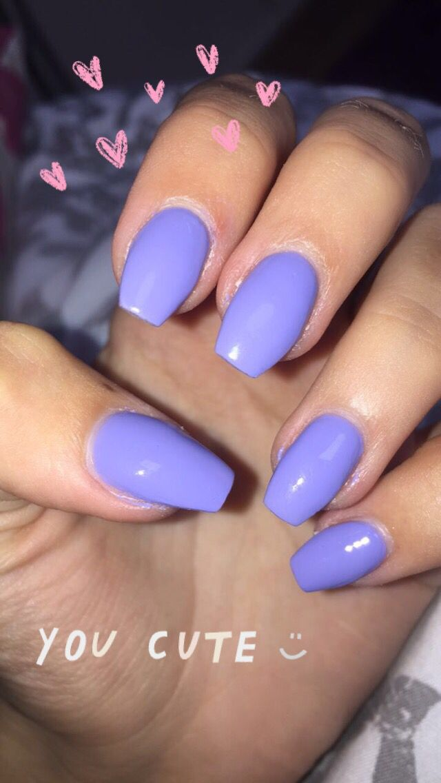 Bright Blue Violet Nails Short Coffin Violet Nails Nails Short Coffin Nails