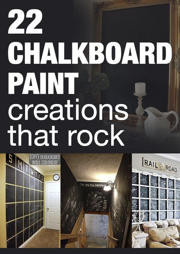 22 chalkboard paint creations that rock