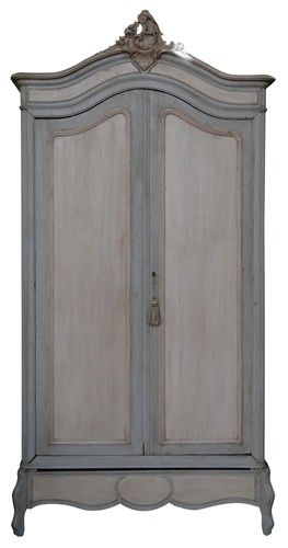 French painted walnut armoire.