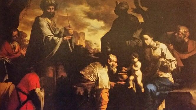 ADORATION OF THE MAGI . 1635 /1640. oil on canvas. 127 × 180 cm. Provenance : English Private Collection.