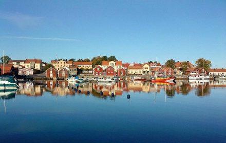 Small town Öregrund in Roslagen