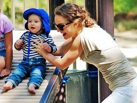 Natalie Portman Takes Son Aleph on a Playground Playdate | Natalie Portman