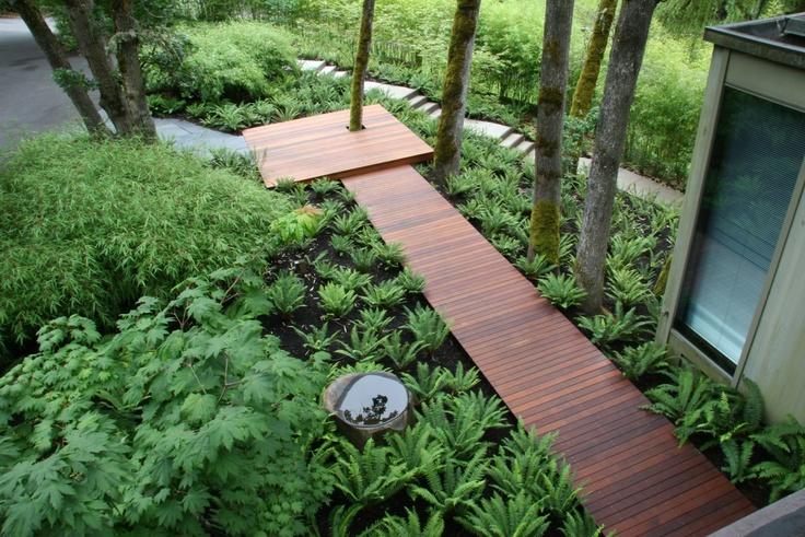 Mosaic Gardens: boardwalk entry