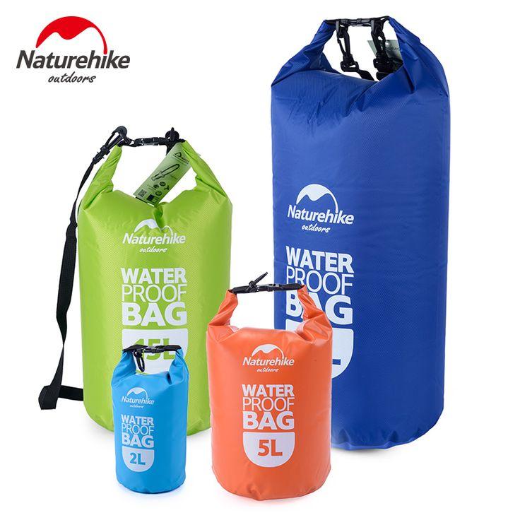 Naturehike Outdoor PVC Waterproof Dry Sack Storage Bag Rafting Sports Kayaking Canoeing Swimming Bag 2L 5L 15L 25LTravel Kits