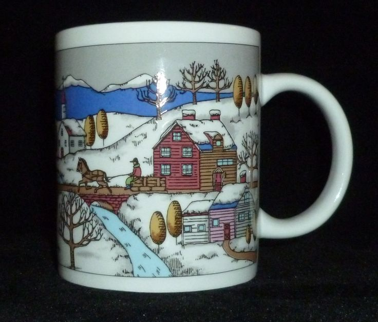 Winter Days Snow Covered Village Coffee Mug