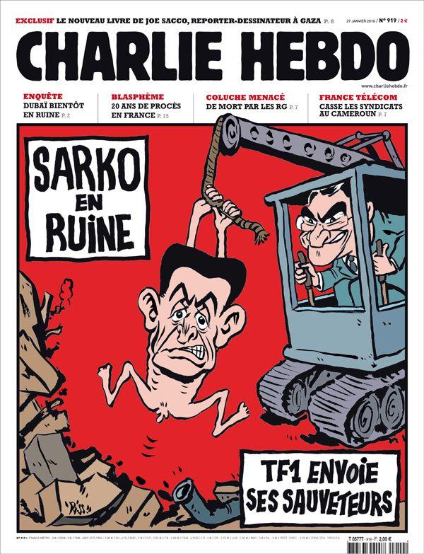 Charlie Hebdo - # 919 - 27 Janvier 2010 - Couverture : Riss