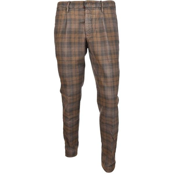Incotex Plaid Tapered Skinny Trousers ($220) ❤ liked on Polyvore featuring men's fashion, men's clothing, men's pants, men's casual pants, biscotto, mens tartan plaid pants, mens plaid pants, mens brown pants, mens skinny pants and mens tartan pants