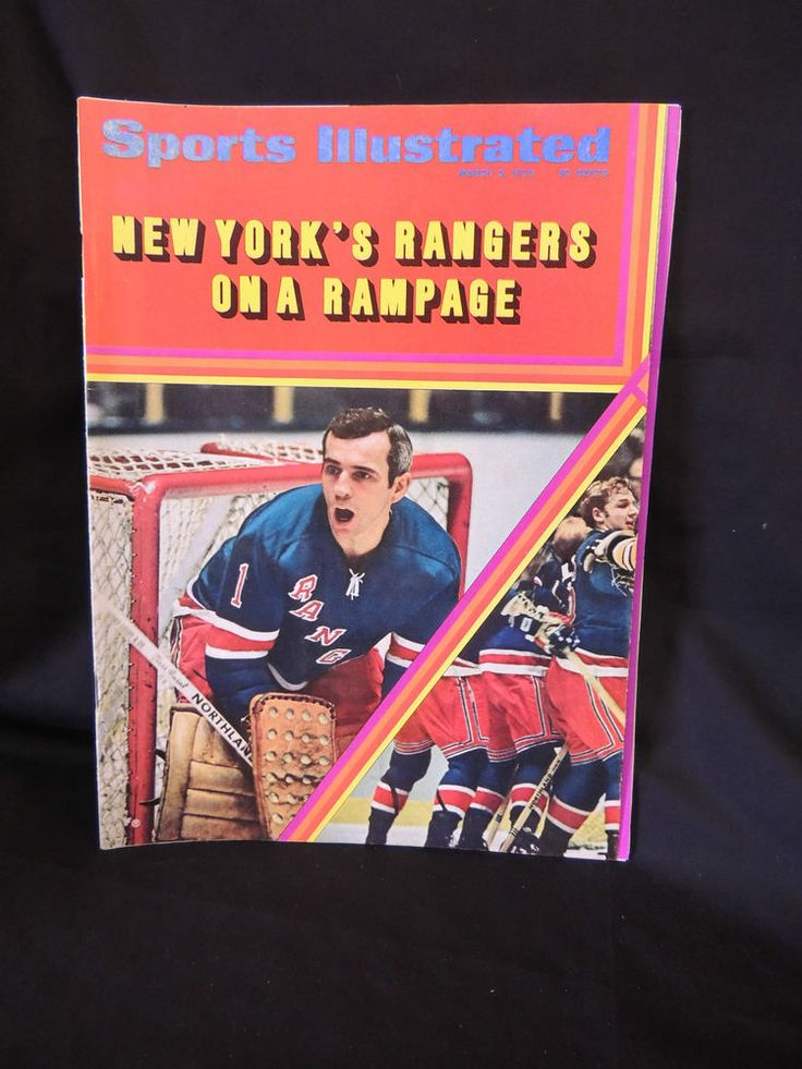 1970 SPORTS ILLISTRATED NEW YORK'S RANGERS  HOCKEY FOLD OUT COVER MAGAZINE