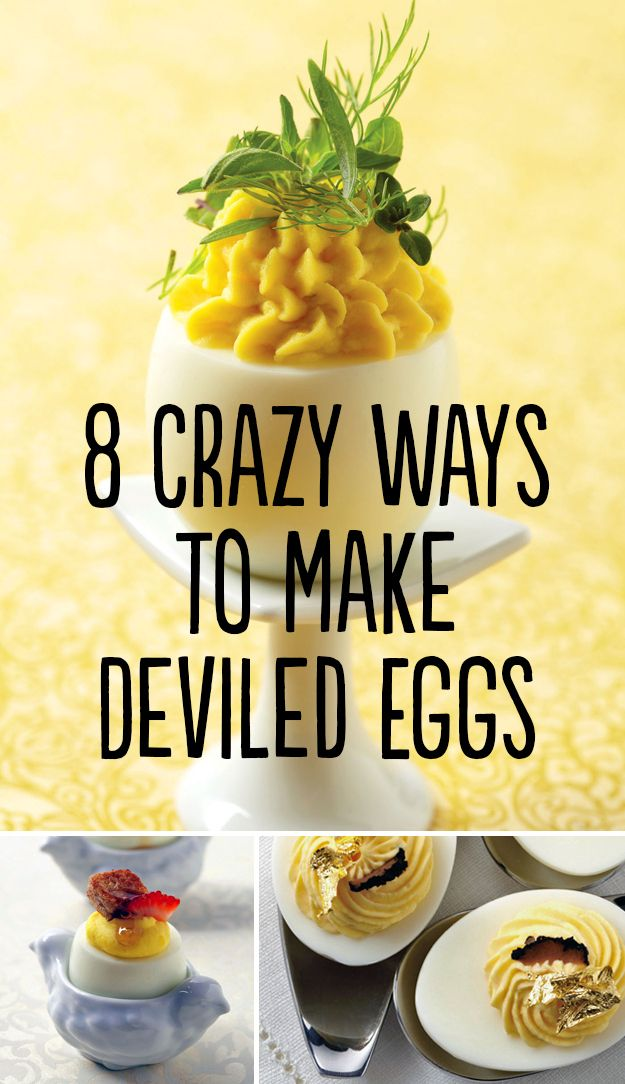 8 Crazy Ways To Make Deviled Eggs (Or 3 complete recipes and then a link to buy a cookbook :))