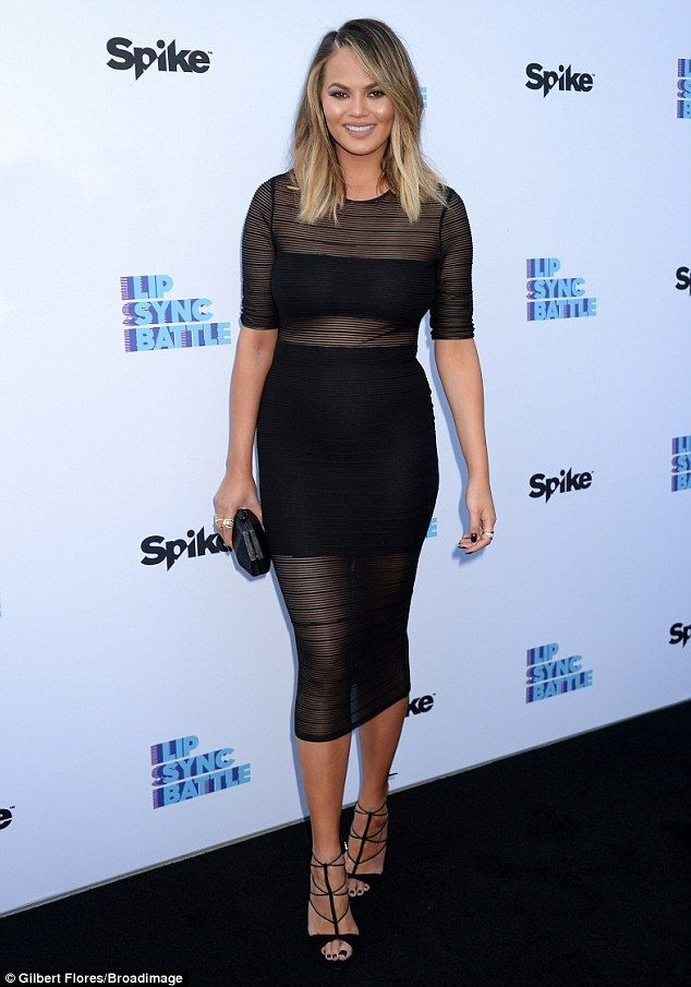 Hot mama! Chrissy Teigen, 30,proudly showed off her post-pregnancy bod at the Lip Sync Battle's For Your Consideration Eventon Tuesday