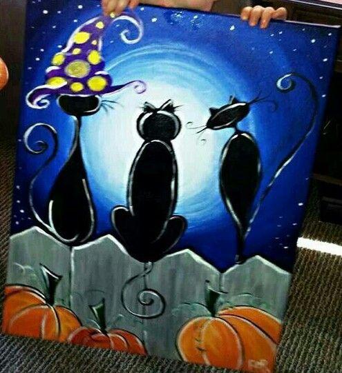 Canvas Painting Halloween Painting Halloween Canvas