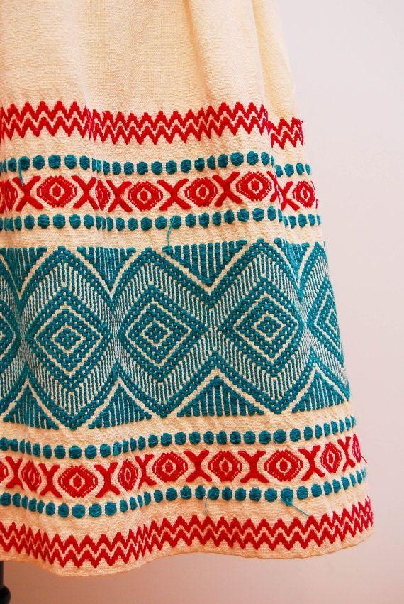 Beautiful border, mexican skirt