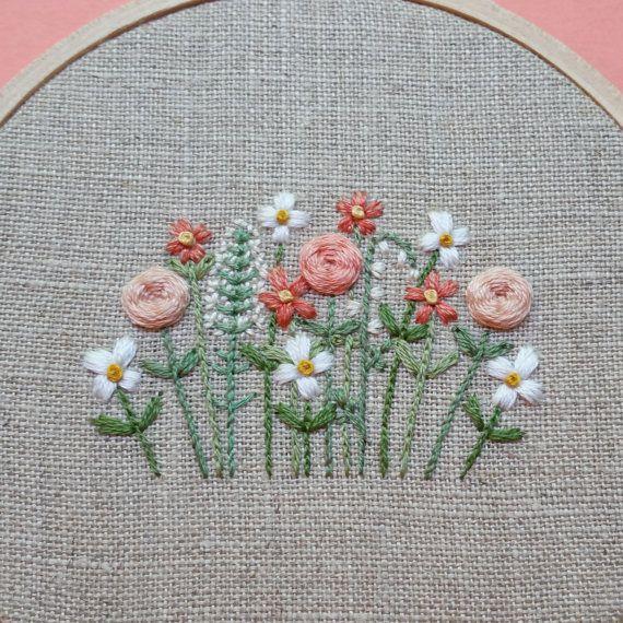 Jardin de fleurs Art du cerceau. Art du par ForestChorusStudio