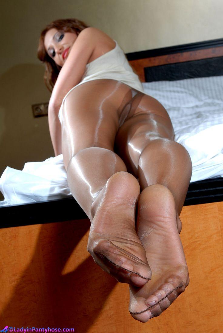 Something Glossy shiny pantyhose share