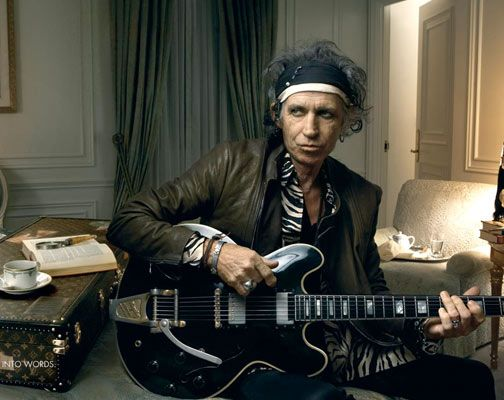 "KR lives  'I mean, give me a guitar, give me a piano, give me a broom and string, I wouldn't get bored anywhere.""  Keith Richards"