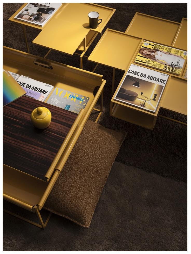 Yellow ! Vanity, Magazine Bin design Roderick Vos for Linteloo