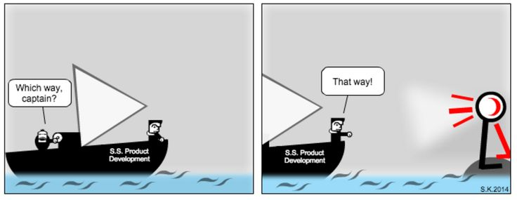 Every project is a ship that need user-centeredness to guide it to the right destination. #PerjantaiSarjis #UX @satuky