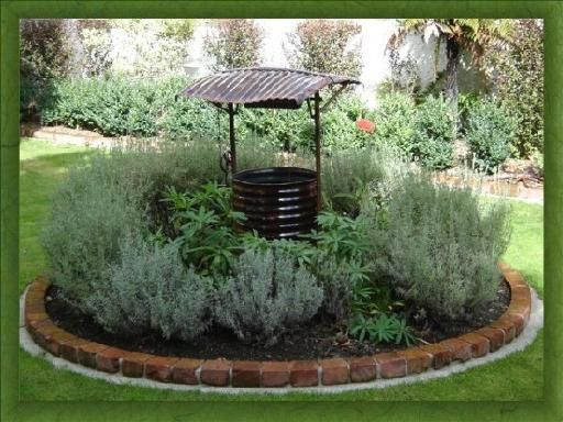 The Wishing Well Would Cover And Above Ground Water Pipe Faucet Thingie It Be Made Of Stone Outdoors Pinterest Garden Yard