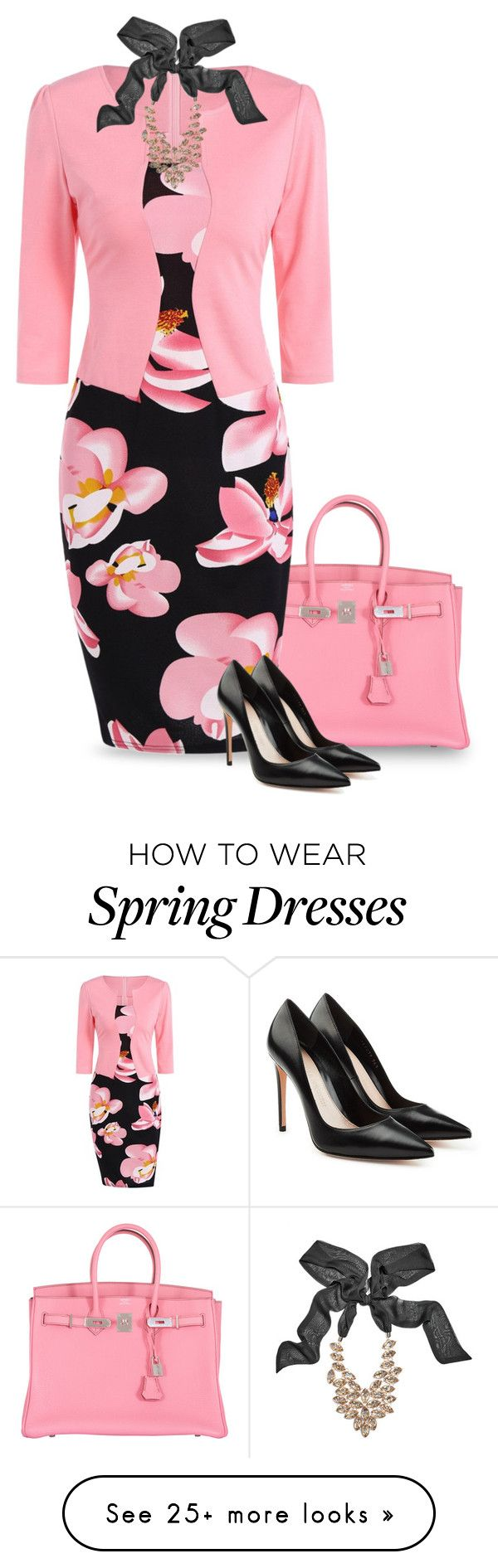 """Spring Fling"" by mk-style on Polyvore featuring Hermès, Trilogy, GUESS by Marciano and Alexander McQueen"