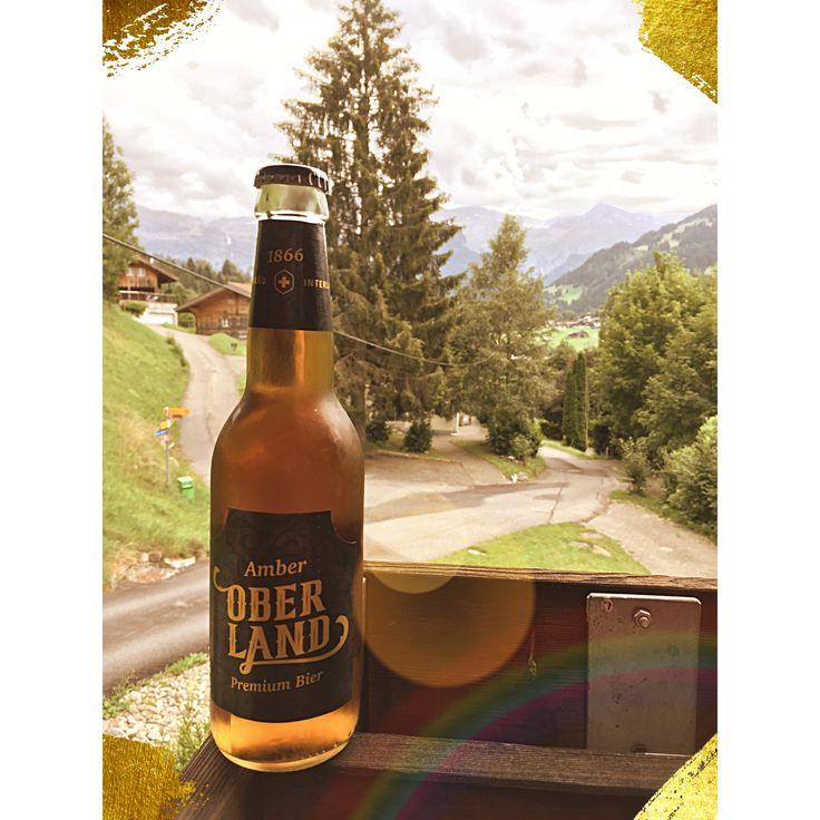 Amber Oberland Bier, Rugenbräu, An der Lenk, August 2017 #Prost #TagdesBieres #Biertagebuch #Bier