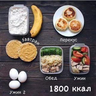 примерный рацион питания на 1700 калорий в день: 9 тыс ...
