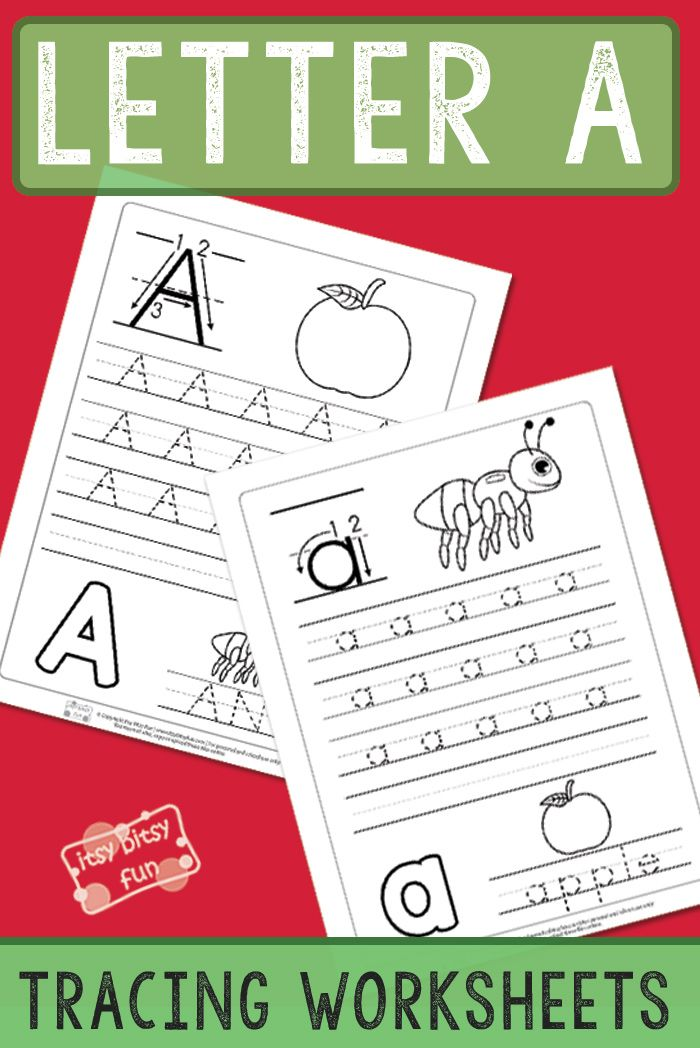 Letter A Tracing Worksheets   Crafts & Activities for Kids   Pinterest