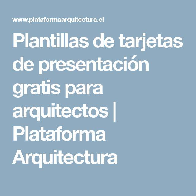 Plantillas de tarjetas de presentación gratis para arquitectos | Plataforma Arquitectura