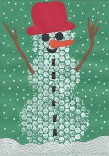 Bublinkový sněhulák