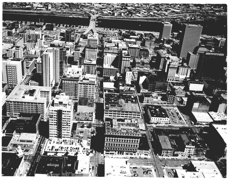 Aerial of Downtown, 1976