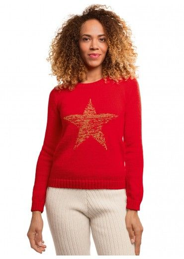 Wooling n°2 - n°11 Pull jacquard col rond Shopping de fêtes