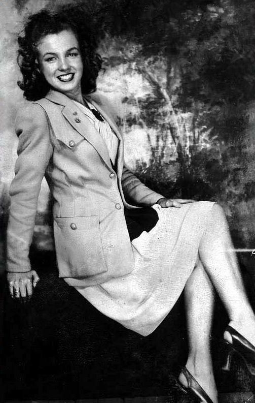 Norma Jean's 9th grade graduation photo Emerson Junior High June 27 1941 (Marilyn Monroe)