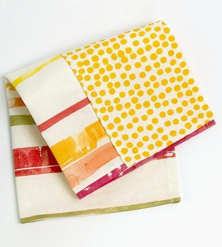Stripe & Dot Napkin Set by Boutique Textiles on Scoutmob Shoppe
