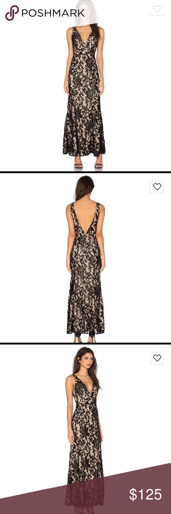 Formal dress Very fitted neutral and black formal dress...small Dresses Backless