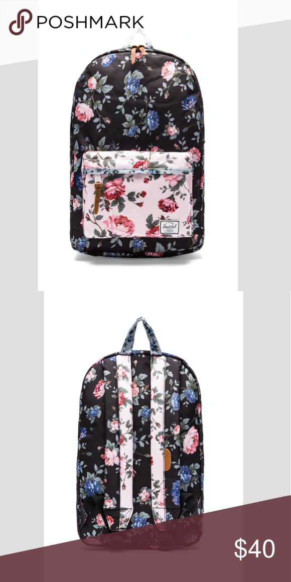 HERSCHEL Heritage Mid-Volume Backpack Herschel Supply Co. - Heritage Mid-Volume Backpack - Black Floral/Pink Floral. Originally bought at Urban Outfitters! Super cute, only lightly used! Clearing out my closet! Send me an offer or bundle! Will post pictures soon of my item in person. PRICE NEGOTIABLE Urban Outfitters Bags Backpacks