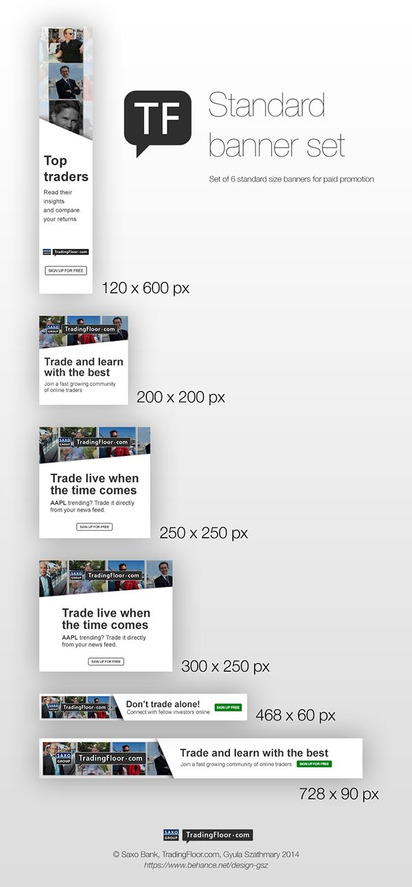 Standard Banner Set of 6 - TradingFloor.com on Behance
