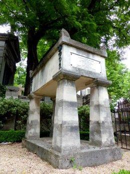 Tombe de Moliere, écrivain et comédien, Père Lachaise