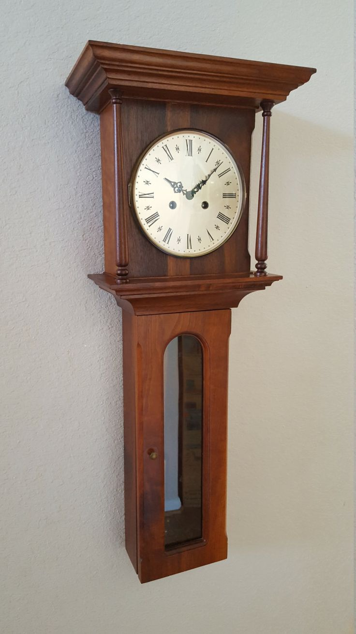 Best 25 chiming wall clocks ideas on pinterest floor and vintage antique erhard jauch 8 day chiming wall clock mid century 1950s german solid walnut professionally restored warranty amipublicfo Images