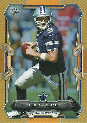 2015 BOWMAN ORANGE #V32 TONY ROMO 44/50 Dallas Cowboys Simply Sandoval #DallasCowboys